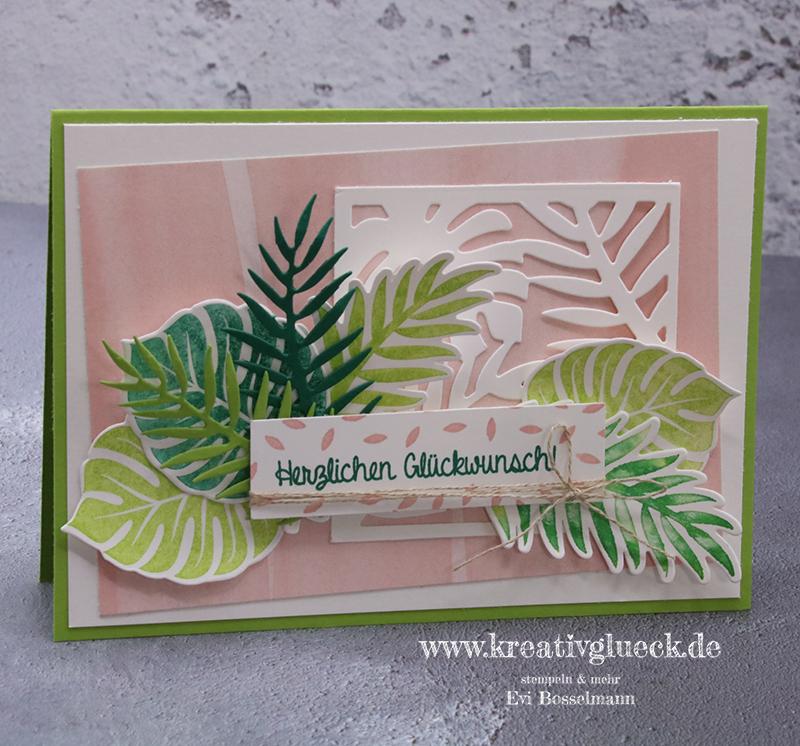 Glückwunschkarte mit dem Stempelset Tropenflair