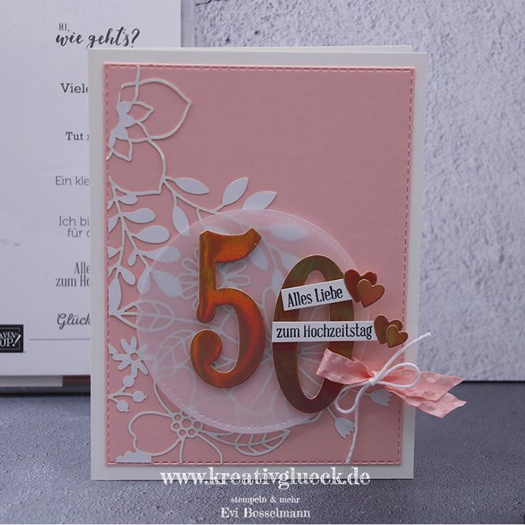 Glückwunschkarte zum 50. Hochzeitstag