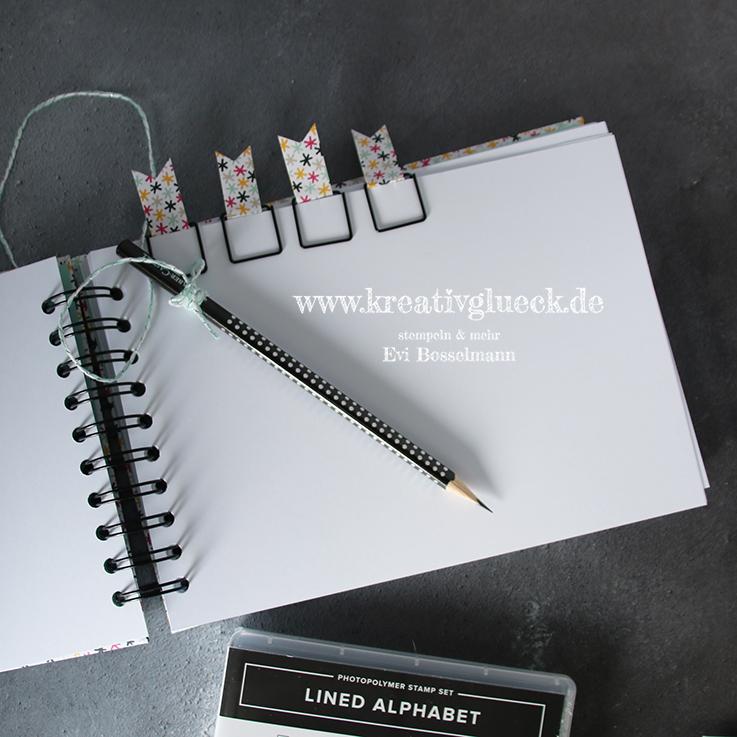 Selbstgemachte Paperclips aus Büroklammern und Designpapierresten