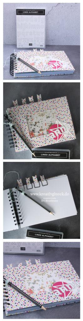 Personalisiertes Skizzenbuch mit Schüttelfenster