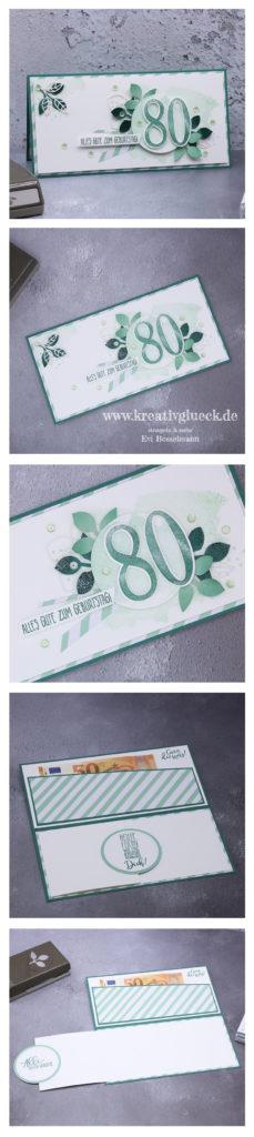 Gutscheinkarte zum 80. Geburtstag