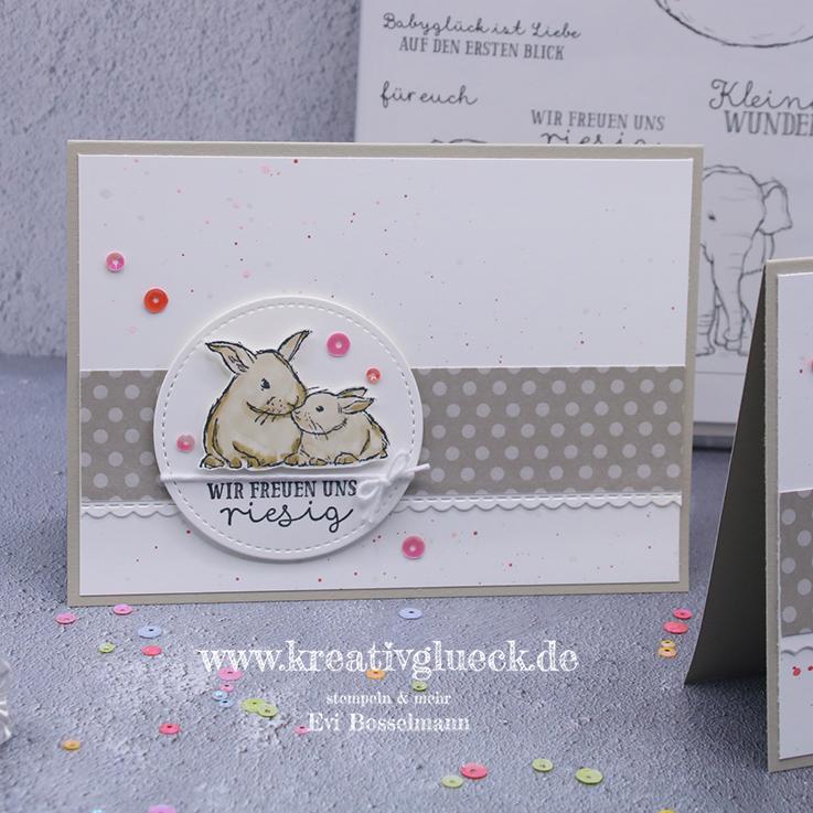 Häschenkarten zur Geburt