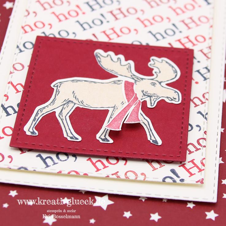Weihnachtskarte Ho, ho, ho!