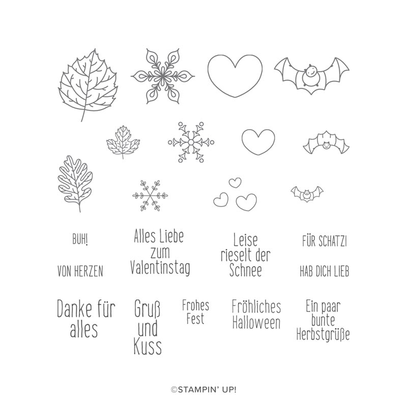 Stempelset Für Herbst und Winter 21,00 €