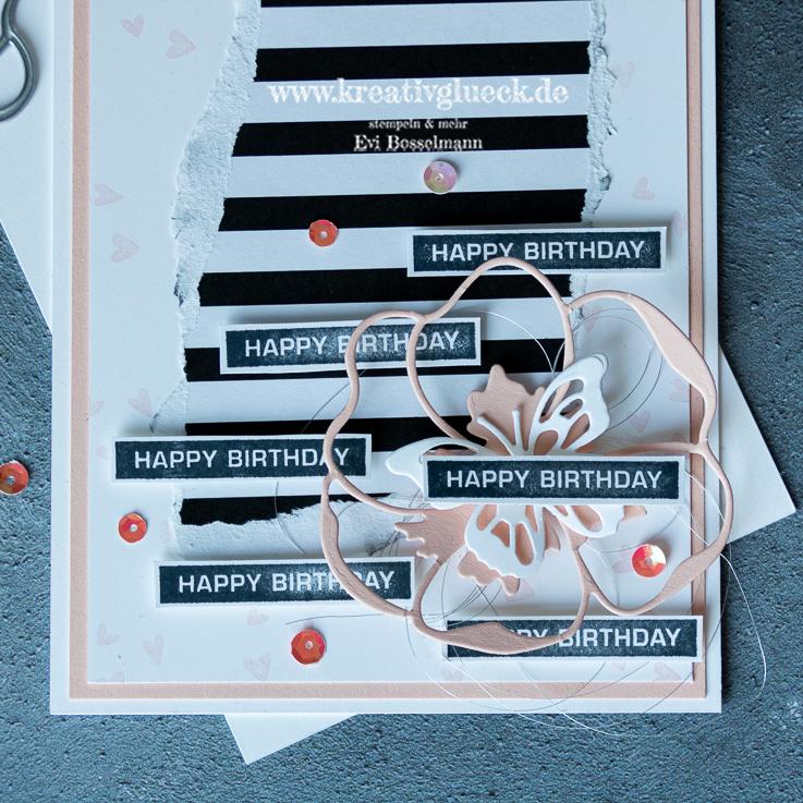 Happy Birthday Karte zum Frühling