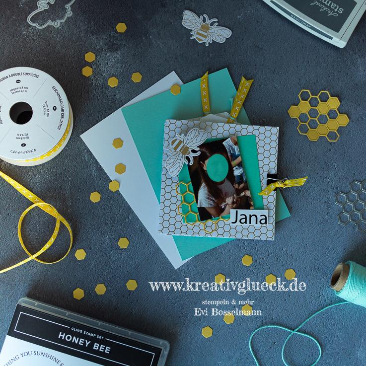 Minialbum mit dem Produktpaket Honey Bee
