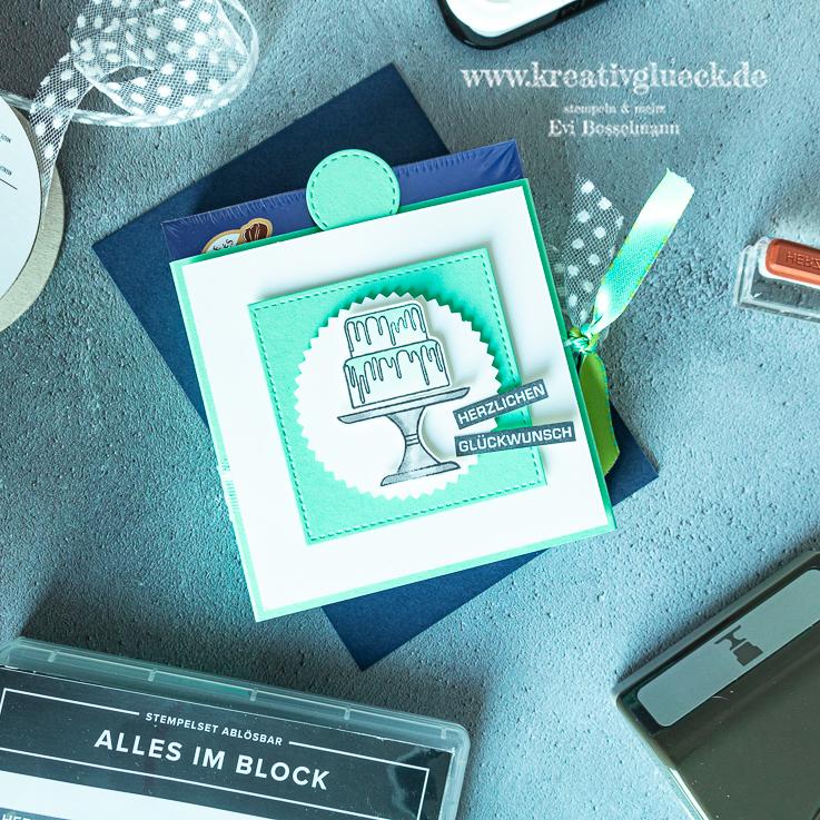Pralinenverpackung mit Geldschein- oder Gutscheinfach