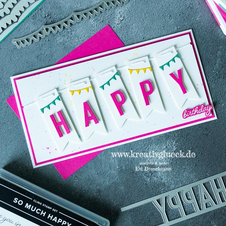 Wimpel-Happy Birthday-Karte