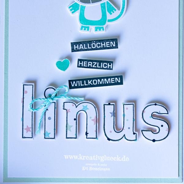 """Karte zur Geburt """"Linus"""""""