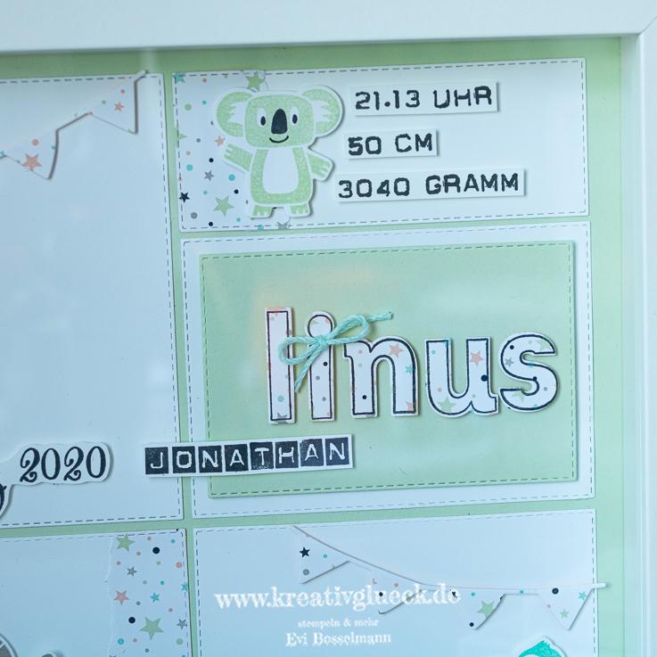 """Erinnerungsrahmen zur Geburt """"Linus"""""""