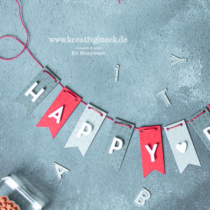 """Mini-Wimpelkette """"Happy Birthday!"""""""
