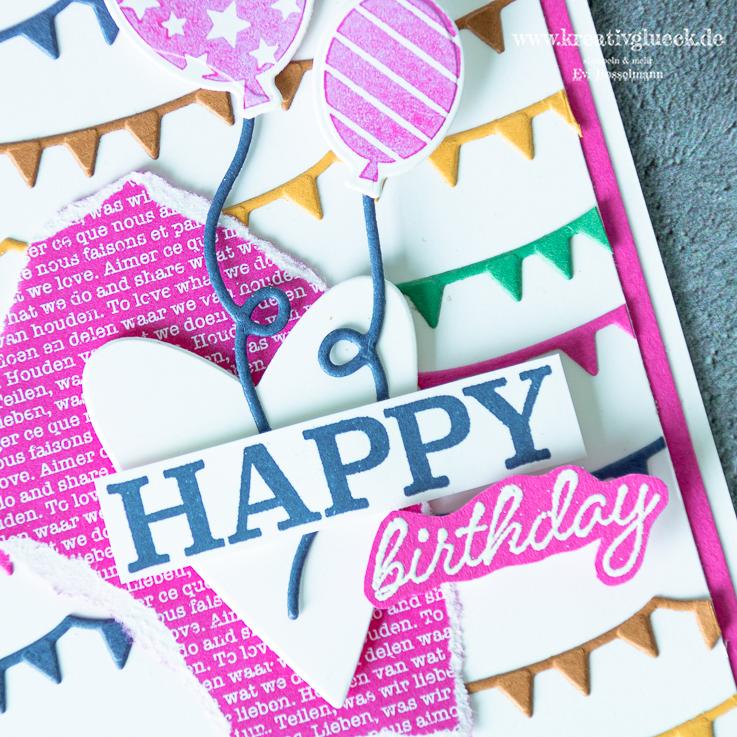 "Farbenfrohe Geburtstagskarte ""Happy Birthday"""