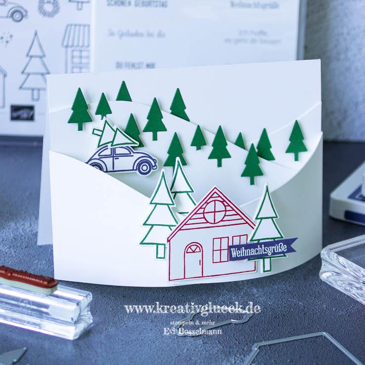"Kartentechnik ""Bendi-Fold-Card"" Weihnachtsgrüße"