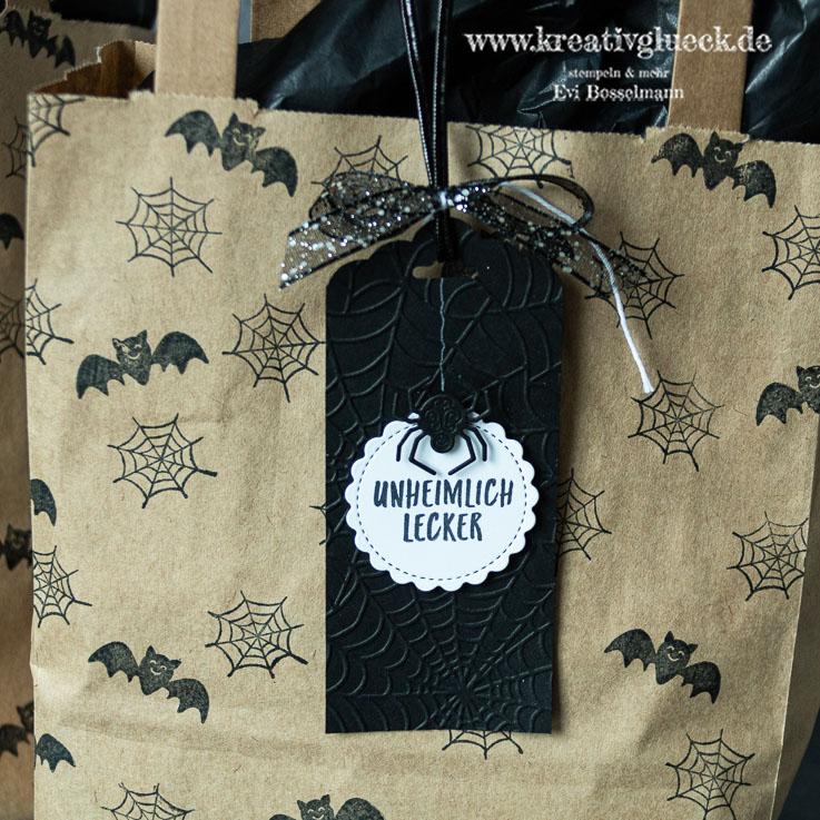 Nasch-Tüten zu Halloween