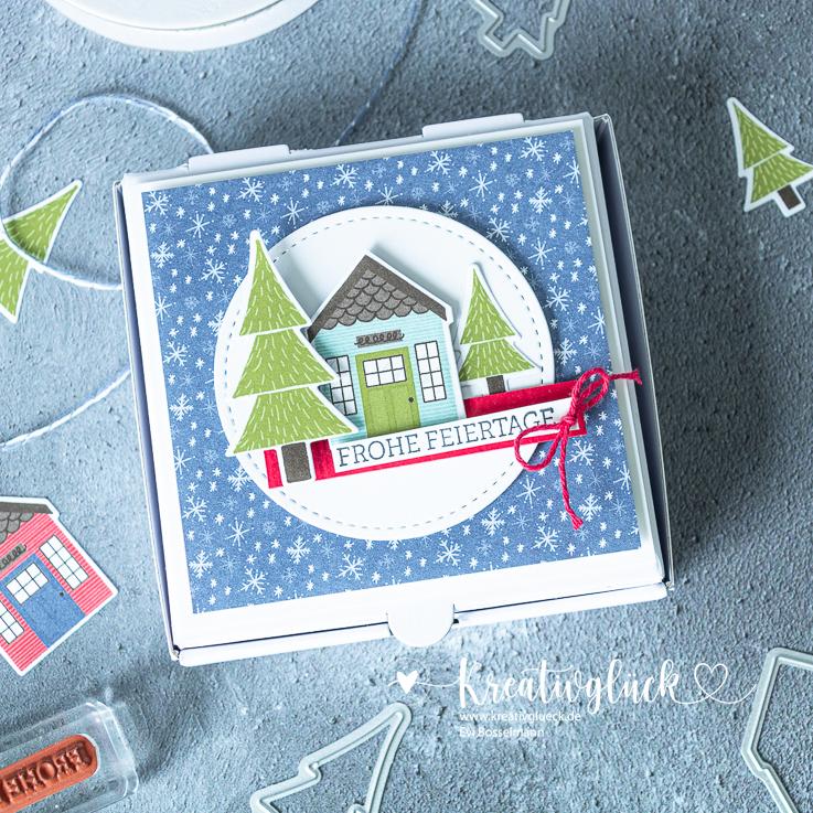 """Weihnachtliche Geschenkverpackung, """"Mini-Pizzabox"""""""